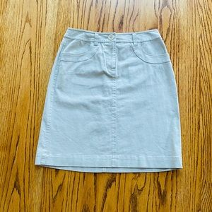 Beige denim skirt, new with tags